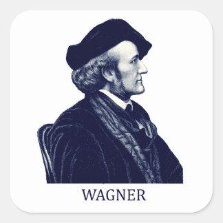 Richard Wagner azul Calcomania Cuadradas Personalizadas