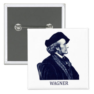 Richard Wagner azul Pin