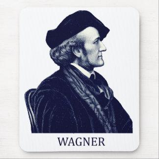 Richard Wagner, azul Alfombrillas De Ratón