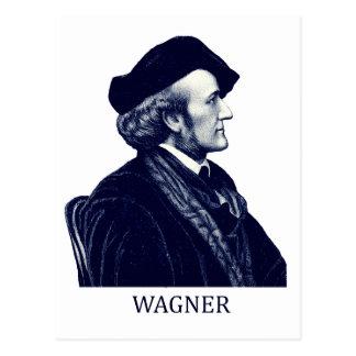 Richard Wagner, azul Tarjeta Postal