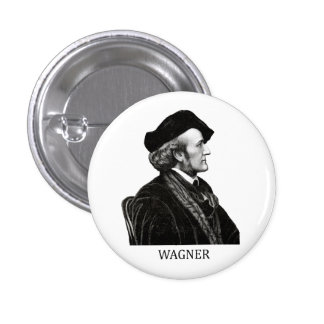 Richard Wagner, black Button