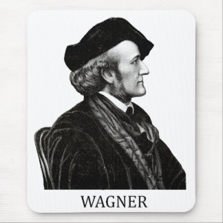 Richard Wagner, black Mouse Pad