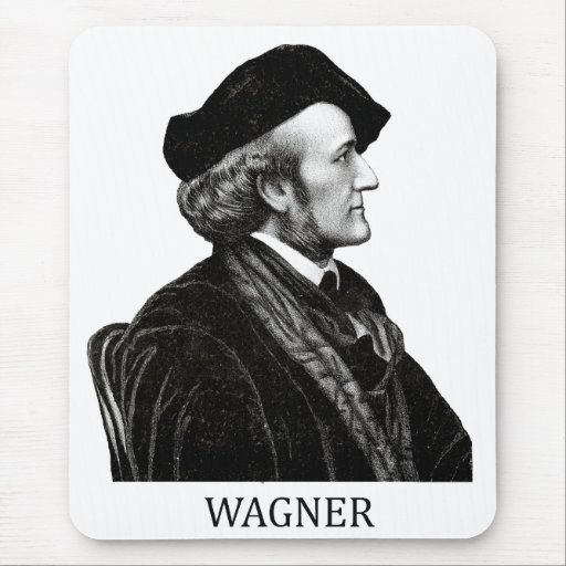 Richard Wagner, black Mouse Pads
