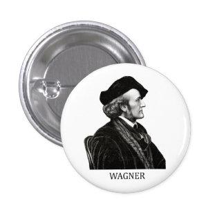 Richard Wagner, black Pinback Button