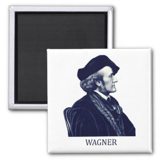 Richard Wagner, blue Fridge Magnets