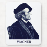 Richard Wagner, blue Mouse Pad