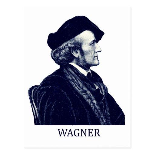 Richard Wagner, blue Postcard