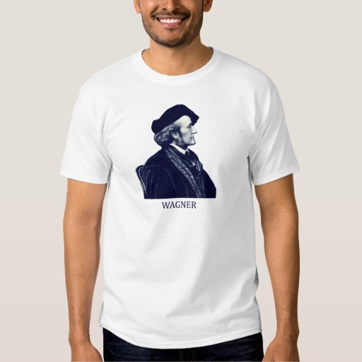 Richard Wagner, blue T-shirt