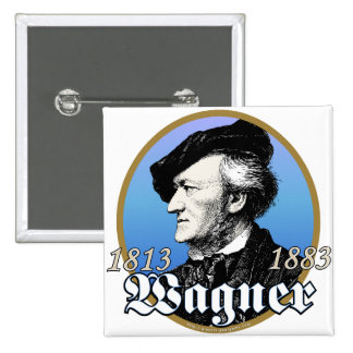 Richard Wagner 2 Inch Square Button