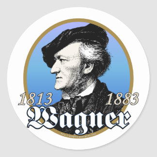 Richard Wagner Classic Round Sticker