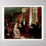 Richard Wagner con el daught de Franz Liszt y de L Póster