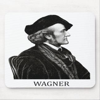 Richard Wagner negro Alfombrillas De Ratón