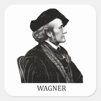 Richard Wagner, negro Pegatina Cuadrada