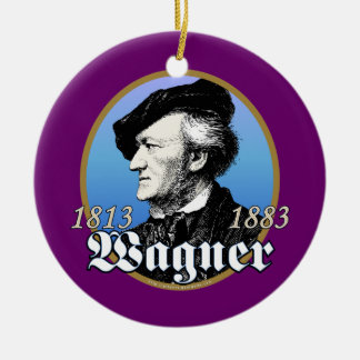 Richard Wagner Double-Sided Ceramic Round Christmas Ornament