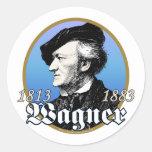 Richard Wagner Pegatinas Redondas