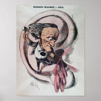 Richard Wagner que parte el tímpano del mundo Póster