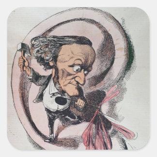 Richard Wagner splitting the ear drum of world Square Sticker