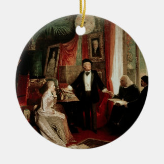 Richard Wagner with Franz Liszt and Liszt's daught Ceramic Ornament