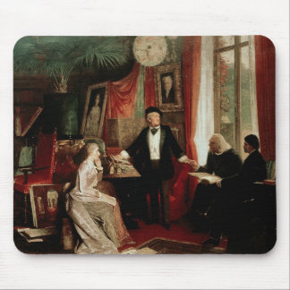 Richard Wagner with Franz Liszt and Liszt's daught Mouse Pad
