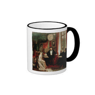 Richard Wagner with Franz Liszt and Liszt's daught Ringer Coffee Mug