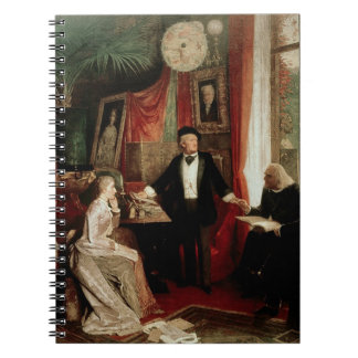 Richard Wagner with Franz Liszt and Liszt's daught Notebook