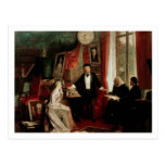Richard Wagner with Franz Liszt and Liszt's daught Post Card