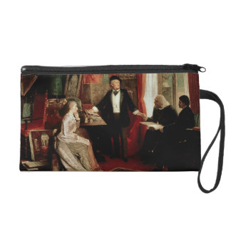 Richard Wagner with Franz Liszt and Liszt's daught Wristlet Clutches