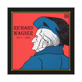 """""""Richard Wagner"""" Wrapped Canvas Print"""