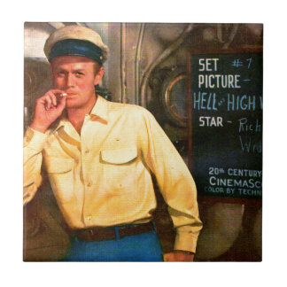Richard Widmark ad for Hell and High Water Tile