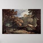 Richard Wilson - Ariccia umgesturtzter tree Print