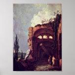 Richard Wilson - Ruins of the Villa of Maecenas Poster