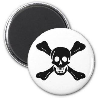 Richard Worley black skull magnet