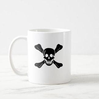 Richard Worley black skull mug