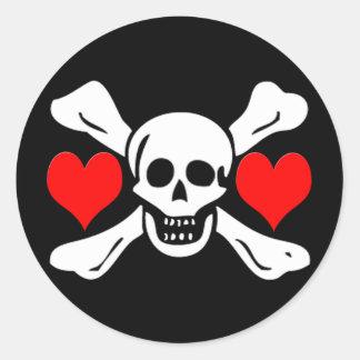 Richard Worley-Hearts Round Sticker