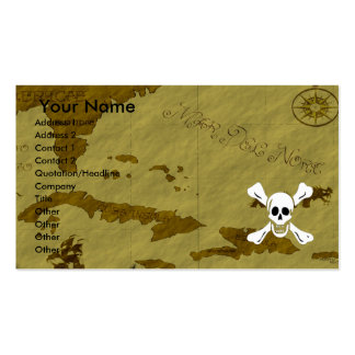 Richard Worley Map #1 Double-Sided Standard Business Cards (Pack Of 100)