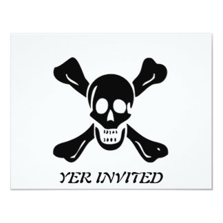 """Richard Worley-Negro Invitación 4.25"""" X 5.5"""""""
