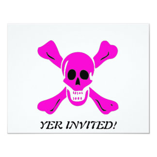 Richard Worley-Pink 4.25x5.5 Paper Invitation Card