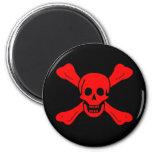 Richard Worley red skull magnet