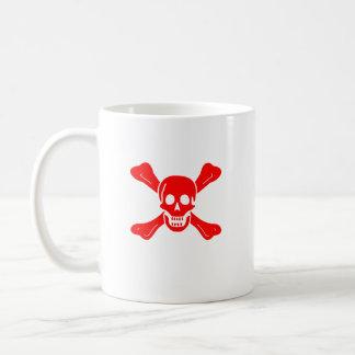 Richard Worley red skull mug