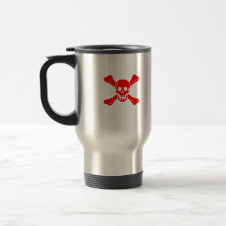 Richard Worley red skull travel mug