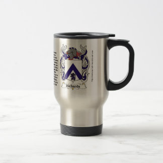 Richards Family Coat of Arms on a Travel Mug