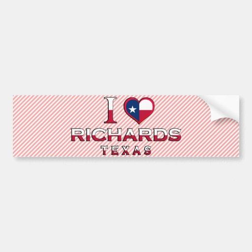 Richards, Texas Car Bumper Sticker