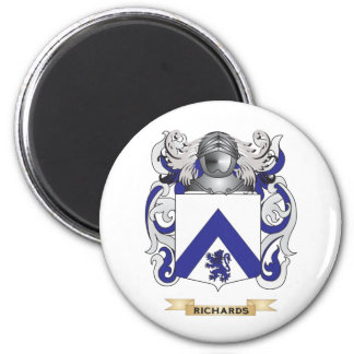 Richardson Coat of Arms (Family Crest) 2 Inch Round Magnet