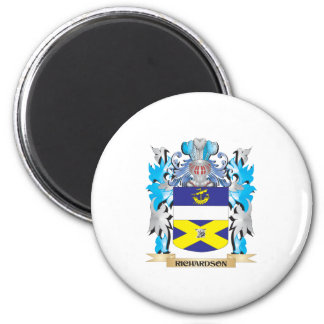 Richardson- Coat of Arms - Family Crest 2 Inch Round Magnet