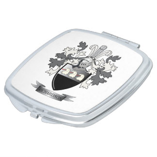 Richardson Coat of Arms Mirror For Makeup