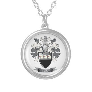 Richardson Coat of Arms Silver Plated Necklace