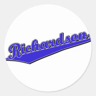 Richardson en azul etiquetas redondas