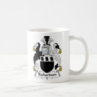 Richardson Family Crest Classic White Coffee Mug