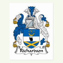 Richardson Family Crest Postcard