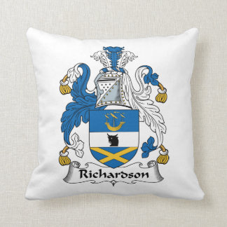 Richardson Family Crest Throw Pillow